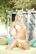 Bree Olson posing in yellow bikini from HD Porn