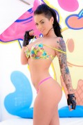 Christy Mack shows her nice tatooed body from evilangel