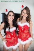 Riley Reid and Lola Foxx share a holiday cock from Amateur Allure