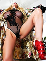 Kelly Madison in black bodystockings
