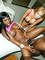 Jada Fire and Trina play with black cock