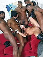 Giselle Leon in hot group interracial action