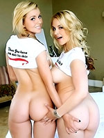 Jessie Rogers and Sarah Vandella share their asses