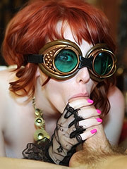 Zoey Nixon as a Steam Punk chick