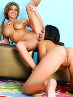 Crissy Moon and Lisa Daniels in hot lesbian action